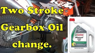 7. How To Change The Gearbox Oil In A 2 Stroke