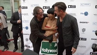 Download Video Bai Ling with Movie Director Jefery Levy and David Arquette | Candid Video MP3 3GP MP4
