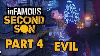 inFamous: Second Son Evil Walkthrough Part 4 - Chasing the Light - Evil&Expert Playthrough