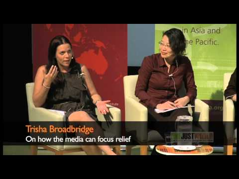 Trisha Broadbridge on how the media can focus relief