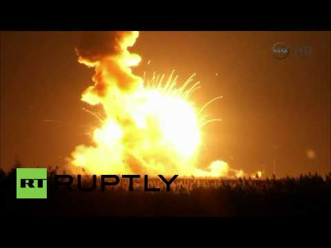 see - Video ID: 20141028-047 NASA Orbital Sciences' Antares rocket exploded on launch at the Virginia Wallops Flight Facility, Tuesday. The rocket was unmanned. The rocket was on a mission deliver...