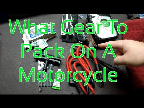 What Gear To Pack On A Motorcycle