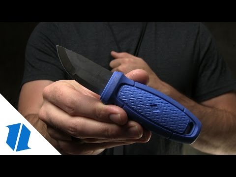 "Morakniv Eldris Pocket-Size Fixed Blade Neck Knife Kit Blue (2.125"" Satin)"