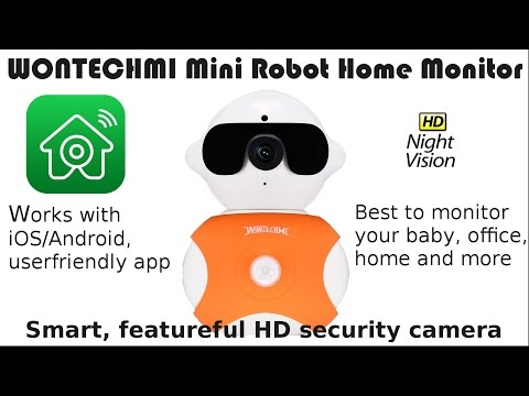 Wontechmi Mini Robot Surveillance Camera