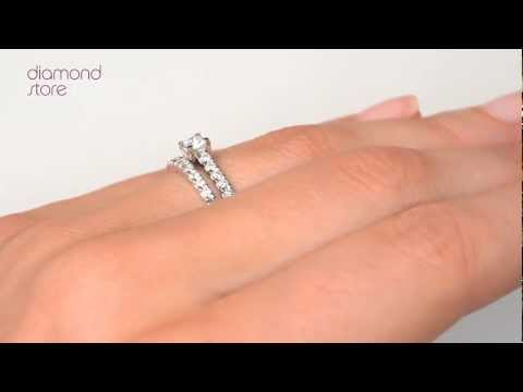 SDN3225 - Diamond 0.71ct And Platinum 2 Ring Bridal Set