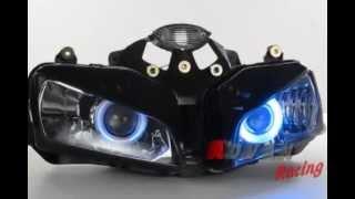 7. Blue Angel eye HID Projector Light Headlight Assembly Honda CBR600RR 2005-2006