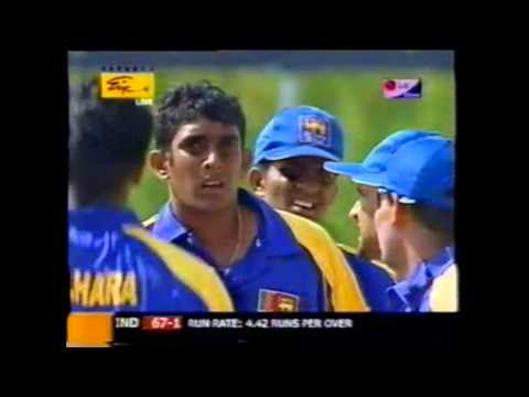 Kumar Sangakkara 100 not out (maiden ODI century) v Pakistan, Sharjah, 2003