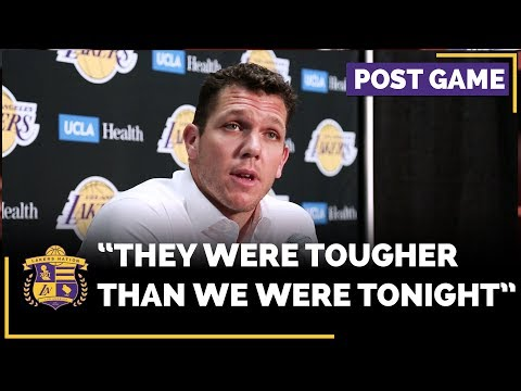 Video: Lakers Luke Walton Frustrated The Miami Heat Were The Tougher Team In Loss