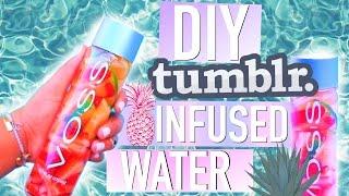 DIY Tumblr Infused Water! #TumblrMySummer - YouTube