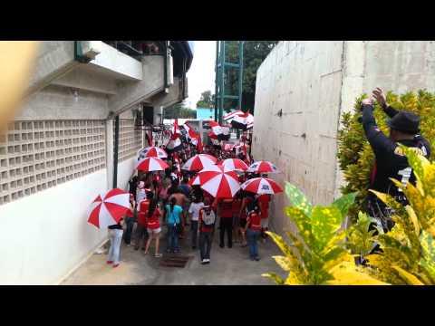Barra del Caracas Fc en Yaracuy- Previa Parte 1 - Los Demonios Rojos - Caracas