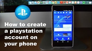 How to create a Playstation Account your Phone (OLD)!!!  For New Video link in Decription