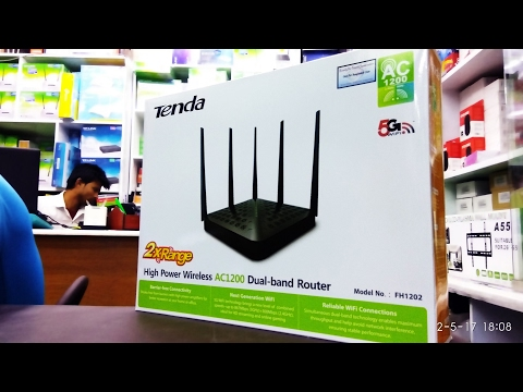 Tenda FH1202 Dual Band Router AC1200, First Look, Router Review