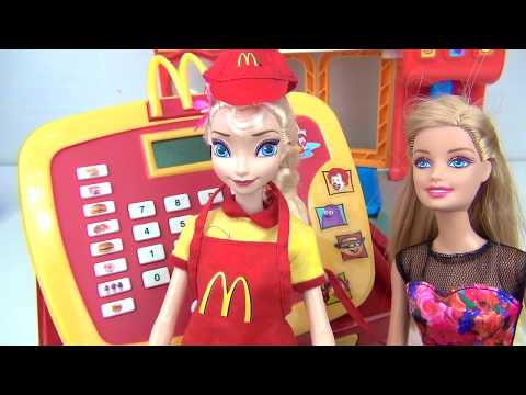 Frozen ELSA Mcdonald's Cash Register Imaginative Play | Toys Unlimited