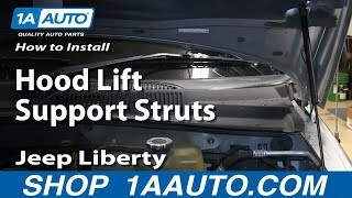 How To Install Replace Hood Lift Support Struts 2002-07 Jeep Liberty