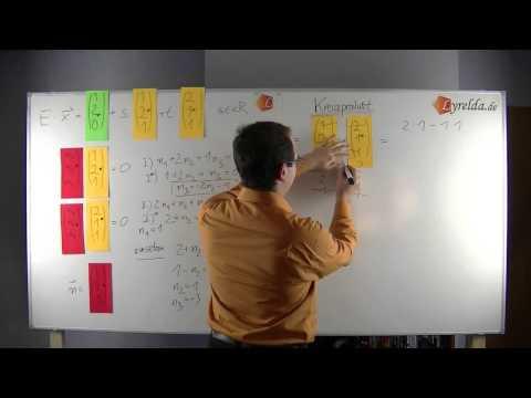 Parameter-Koordinaten-Normalenform-Kreuzprodukt