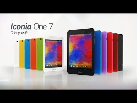 Acer Iconia One 7 tablet (B1-750) - Color your life (features & highlights)
