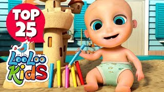 Subscribe to our channel because new videos are uploaded every week! http://bit.ly/Subscribe_to_LooLooKidsYou are watching a super fun compilation with the 25 most popular nursery rhymes created by LooLoo Kids and Hello Mr. Freckles!Follow us on Facebook for new updates! https://www.facebook.com/LooLooKids/Tweet to us! https://twitter.com/loolookidsWe are always happy to hear from you! Please share your feedback on our nursery rhymes in the comments or through our social media!Go to your favorite song by selecting a title below!0:00 One, Two, Buckle My Shoe0:58 If You're Happy and You Know It (Hello Mr. Freckles)2:59 Old MacDonald Had a Farm4:18 BINGO6:15 Head, Shoulders, Knees and Toes 7:42 Rain, Rain, Go Away9:57 The Finger Family10:59 The Wheels on the Bus (Hello Mr. Freckles)13:07 Johny Johny Yes Papa14:37 Five Little Ducks16:11 Once I Caught a Fish Alive18:09 Five Little Monkeys20:23 I'm a Little Teapot21:37 Five Little Ducks (Hello Mr. Freckles)23:59 Bingo (Hello Mr. Freckles)26:23 Pat-a-Cake27:20 Sleeping Bunnies29:11 The ABC Song30:30 Hickory Dickory Dock33:05 Head, Shoulders, Knees and Toes (Hello Mr. Freckles)35:07 Mary Had a Little Lamb37:17 Humpty Dumpty38:31 Miss Polly Had a Dolly39:53 Old MacDonald Had a Farm (Hello Mr. Freckles)41:11 Twinkle, Twinkle, Little StarOne, Two, Buckle My Shoe LyricsOne, two, buckle my shoe,Three, four, open the door,Five, six, pick up sticks,Seven, eight, lay them straight,Nine, ten, a big, fat hen!Eleven, twelve, dig and delve,Thirteen, fourteen, draw the curtain,Fifteen sixteen, the maid's in the kitchen,Seventeen, eighteen, she's in waiting,Nineteen, twenty, my stomach's empty.Watch the LooLoo Kids Playlist: https://youtu.be/-ccCPcujnys?list=PLFkIjhjdbaAdmPyradNYGNG5vbbPQBuuw Enjoy other LooLoo Kids nursery rhymes:Row, Row, Row Your Boat http://youtu.be/bp4QmHwGBMABaa, Baa, Black Sheep http://youtu.be/C1q4-EJv9sEHush Little Baby http://youtu.be/b6foGWb93a8The Wheels On The Bus http://youtu.be/kNBJJmTPR9MIncy Wincy Spider