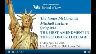 Spring 2018 Mitchell Lecture