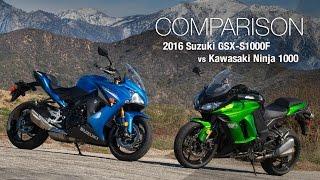 9. 2016 Suzuki GSX-S1000F vs Kawasaki Ninja 1000 - MotoUSA