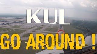 Video Cockpit View - KUL GO AROUND (ATC) !! MP3, 3GP, MP4, WEBM, AVI, FLV November 2018