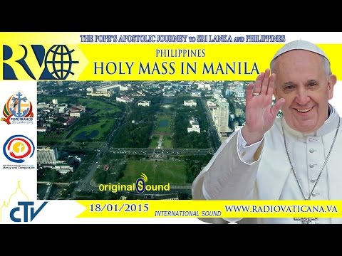 Pope Francis Holy Mass at Rizal Park, Philippines