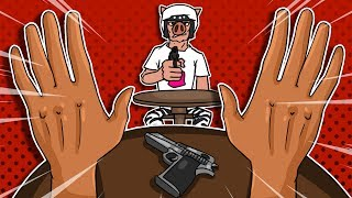 The Ultimate Gun Duel,  Best $2 Game Ever! - Hand Simulator Funny Moments