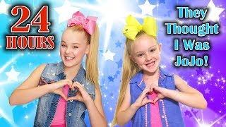 Video 24 Hour Challenge as JoJo Siwa GONE WRONG!!! They Thought I Was the REAL JOJO!!! MP3, 3GP, MP4, WEBM, AVI, FLV Juni 2018