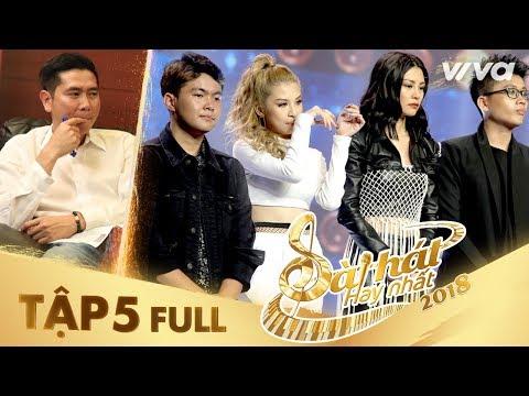 Sing My Song - Bài Hát Hay Nhất 2018| Tập 5 Full HD Vòng Trại Sáng Tác & Tranh Đấu: Team Hồ Hoài Anh - Thời lượng: 1:44:42.