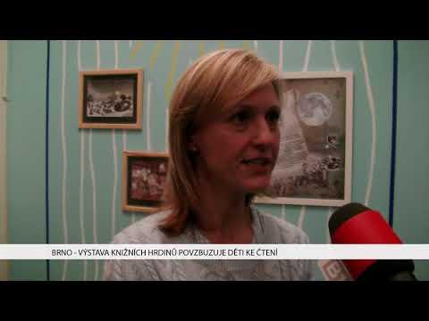 TV Brno 1: 28.11.2017 Výstava knižních hrdinů povzbuzuje děti ke čtení