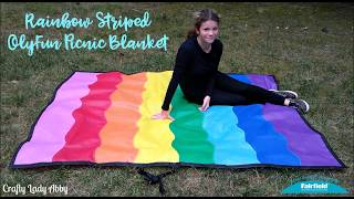 For my final June LGBTQ Pride month project, I made this rainbow striped picnic blanket in an afternoon using Fairfield World OlyFun. I'm a designer for Fairfield World. They provided me with the OlyFun for this project. This is just a teaser video for this project to explain what the blanket is for and to show how to roll it up for transporting. All of the instructions are over on Fairfield World. https://www.fairfieldworld.com/project/rainbow-striped-olyfun-picnic-blanket/SOCIAL MEDIA:Website: http://www.craftyladyabby.comFacebook: https://twitter.com/CraftyLadyAbbyTwitter: https://www.facebook.com/CraftyLadyAbbyPinterest: https://www.pinterest.com/CraftyLadyAbbyInstagram: https://instagram.com/craftyladyabby