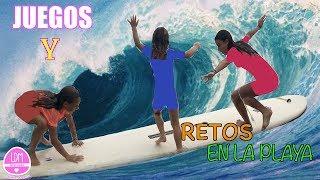 RETOS YJUEGOS  EN TABLA DE SURF/LA DIVERSION DE MARTINA