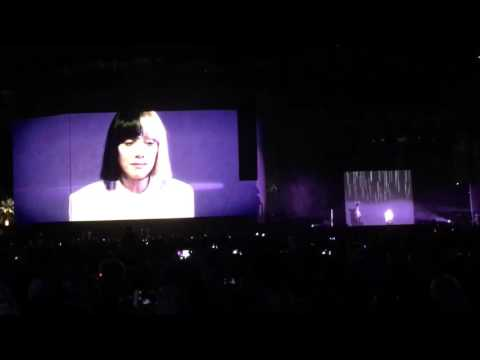 Video of Sia's performance for One Million Bullets