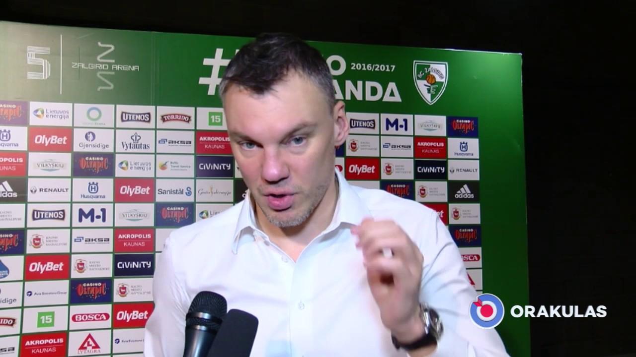 """Š.Jasikevičius: """"33 pergalės čempionate yra fantastiškas rezultatas"""""""