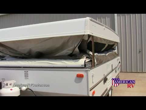popuptrailer - Walkthrough demonstration of the setup and use of a Popup Folding Tent Camper. Example unit is a 2011 Rockwood Freedom 2270 from American RV Center in Evansv...