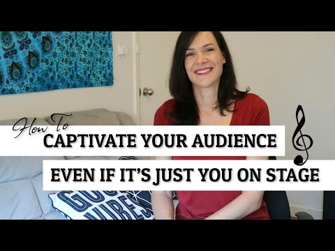 How To Captivate Your Audience If It's Just You On Stage
