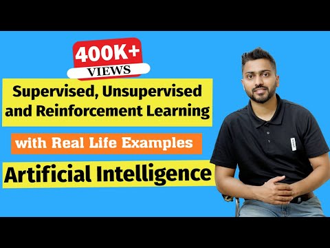 Supervised, Unsupervised and Reinforcement Learning in Artificial Intelligence in Hindi
