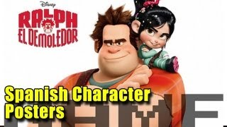 Three Wreck-It Ralph Spanish Character Posters