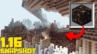 NEW Basalt Deltas BIOME! Blackstone Blocks (Minecraft 1.16 Snapshot 20w15a)