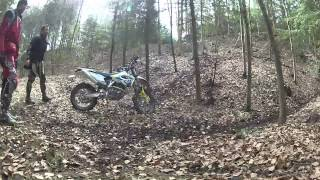 9. 2014 GOPRO HD2 Husqvarna for wood and garden FE501 & TE125 raw woods of HU