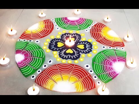 Beautiful Easy Rangoli Design Learn How To Make Diwali Special Rangoli For Home Decoration