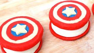 Captain America Ice Cream Sandwiches
