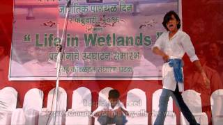 In this video, officials from the Maharashtra State Government share their views on the street play Saha Astitva performed by The Living Theatricals on World Wetlands Day, 2016. The play was performed in  'Life in Wetlands'  an event conducted by the Maharashtrs State Forest Department's Mangrove Cell to commemorate  World Wetlands Day. The event took place on the banks of the Thane Creek at Airoli, Navi Mumbai.Saha Astitva (which means co-existence in Sanskrit) is a street play on the interdependence of coastal and inland wetlands. The Living Theatricals is Vanashakti's environmental theatre group from the Tansa Valley, a predominantly tribal area, about 70 km from Mumbai. This is a group of about 25 children aged between 12-23 years and our mentors that educates the villages in the Valley on issues of local environmental degradation through street plays and stage plays. Issues like human induced forest fires, methods in rural waste management, ground water conservation and recharge, methods and techniques in organic farming etc. that are specific to the valley are taken up by the group. Thanks to their efforts, the forest fires have reduced by 95% in two years of beginning the awareness campaigns (on the onset of the dry season, every evening acres of forest lands were set on fire in order to hunt for rabbits), the village panchayats have been mobilized into installing public waste bins (the waste was otherwise dumped in the river), shops in many villages have substituted plastic bags with handmade paper bags.   Rehearsals and practice sessions are conducted in agricultural fields, along the river banks, under shady trees etc. where the children can tend to their domestic chores (like cow herding, tending to the farms, harvesting the farm produce etc.) as well as rehearse simultaneously. The Living Theatrical also performs in Mumbai on days of environmental commemoration like World Wetland Day, International Day for Biological Diversity, Aarey Mahotsav, Earth Day 