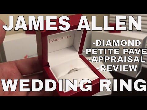 James Allen Diamond Petite Pave Wedding Ring