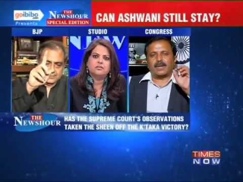 newshour - In a debate moderated by TIMES NOW's Editor-in-Chief Arnab Goswami, panelists -- Madhu Gaud Yaskhi, MP, Lok Sabha, Congress; Mahesh Jethmalani, Leader, BJP; ...
