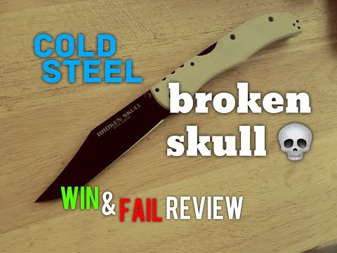 Best EDC Everyday Carry Big Knife? Cold Steel Broken Skull Win And Fail Review