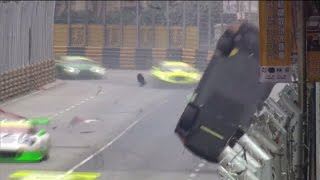 Macau Macao  City new picture : FIA GT World Cup 2016. Main Race Macau Grand Prix. Laurens Vanthoor Huge Crash Flip