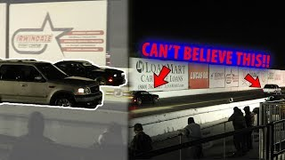 8. HELLCAT GETS BEAT BY A FORD Expedition