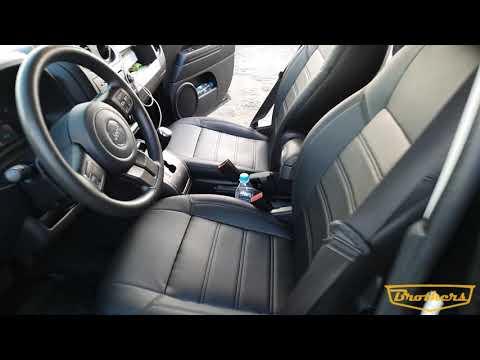 """Чехлы на Jeep Compass, серии """"Premium"""" - черная строчка"""