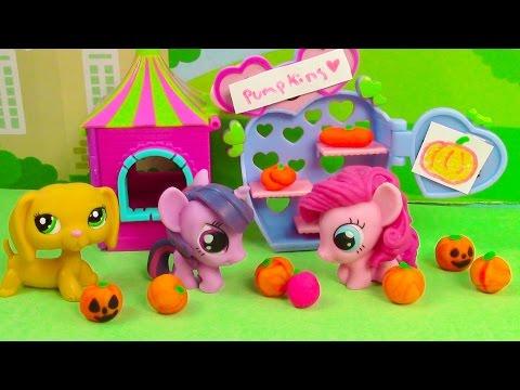 MLP Cute Pumpkin Patch Halloween Fashems My Little Pony Littlest Pet Shop Play-doh LPS