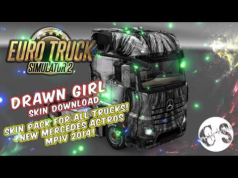 Drawn Girl Skin Pack for All Trucks